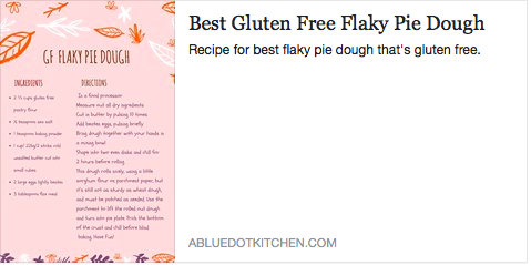 Gluten free Pastry Dough
