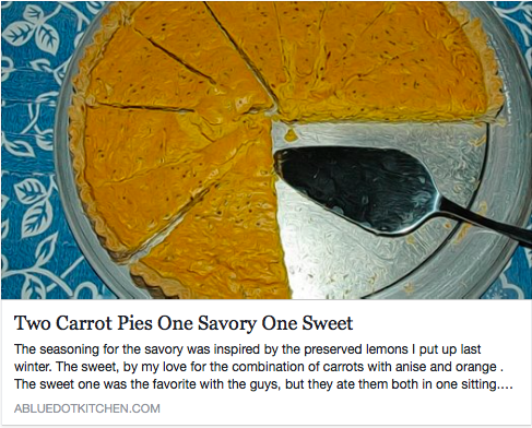Carrot pies
